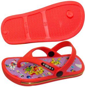 OEM New Red Children′s Flip-Flops pictures & photos