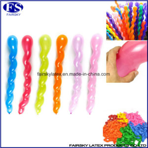 Hot Sale Multi Colors Spiral Balloon, Twisted Latex Long China Balloons Latex Wholesale pictures & photos