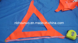 Waterproof Fluorescent PVC Warning Triangle Fabric Piece