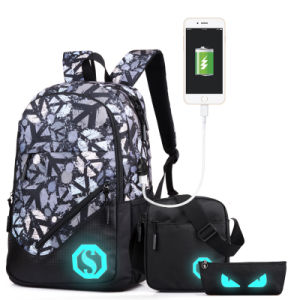 Luminous Backpack with USB Ports for School pictures & photos