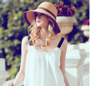 Custom Wholesale Summer Sunshade Straw Sunscreen Beach Hat