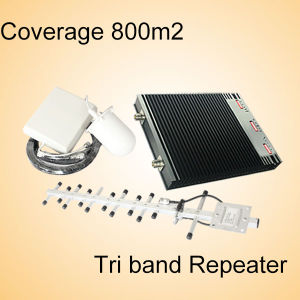 Mobile Signal Booster Tri Band 900/1800/2100MHz Signal Repeater GSM Repeater