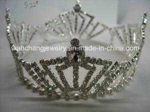 Rhinestone Pageant Tiara, Pageat Crown H-38014, Wedding Tiara, Bridal Crown 38014