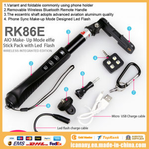 2015 New Products Mobile Selfie Stick Extendable Baton Rk86e pictures & photos