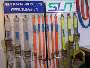 2017 5t*50mm 9m Ratchet Strap with Double J Hook pictures & photos