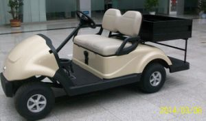 New Design 2 Seater Electric Golf Cart with Cargo Box Made by Dongfeng Motor on Sale pictures & photos