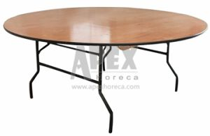 Wood Folded Round Table Banquet Table Hotel Furniture pictures & photos