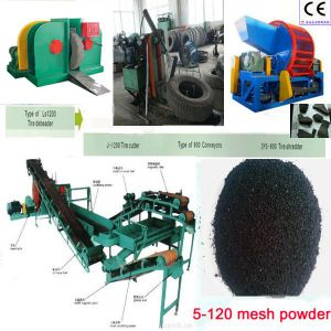 Single Hook Tyre Debeader, Tire Cutter, Used Tire Shredder, Waste Tyre Recycling Rubber Powder Machine pictures & photos