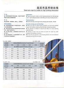 Wire Rope for Zlp Series Suspended Platform pictures & photos