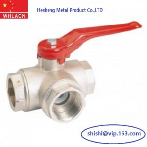 Stainless Steel Precision Investment Casting 3 Way Ball Valve pictures & photos