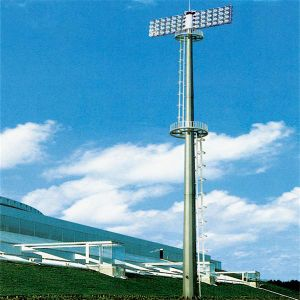 15m High Mast Pole with 400W Metal Halide Light for Football Pitch pictures & photos