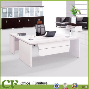 Office White Antique Desk Design with Side Table pictures & photos