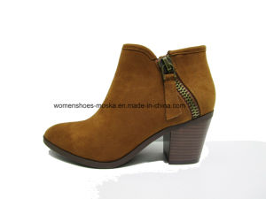 New Design Lady Fashion Women Chunky Heel Ankle Boots for Shopping pictures & photos