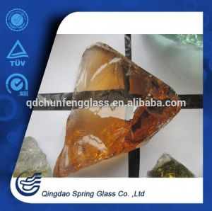 Amber Clear Glass Rocks pictures & photos