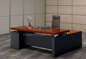 Popular Solid Wooden Office Manager Table (LT-A164) pictures & photos