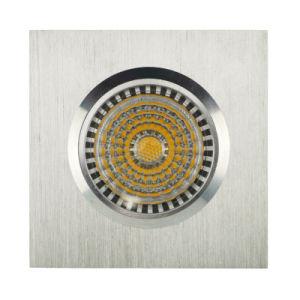 Lathe Aluminum GU10 MR16 Square Fixed Recessed LED Spotlight (LT2001) pictures & photos