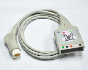 Philips 12 Pin 5 Leads Trunk ECG Cable New pictures & photos