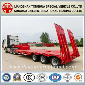 3-Axles Tires Covered Low Bed Semi Trailer on Seasonal Promotion pictures & photos