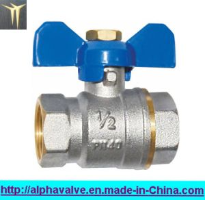 Brass Full Port Ball Valve with Butterfly Handle (a. 0114)