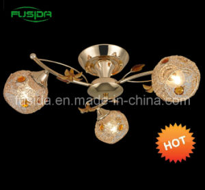 2012 China Popular Iron Chandelier with Crystal in French Gold pictures & photos