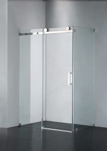 Upc-05 Straight Frameless Double Sliding Shower Door