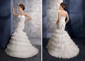 Hot Pleated Organza Mermaid Wedding Dress/Wedding Gown (Angela-060)