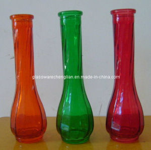 Very Cheap Machine-Made Colorful Glass Vase (V-JZ02) pictures & photos