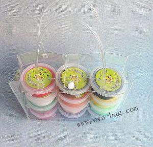 Durable Glass Transparent PVC Handbag with Button Closure pictures & photos
