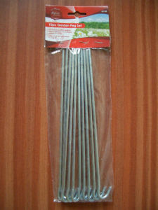 Galvanized Travel Camping Tent Pegs pictures & photos