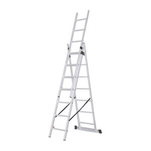 High Quality 3*8 Steps Aluminium 3 Section Extension Ladder pictures & photos