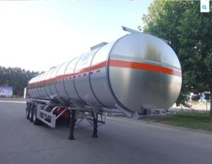 China Carbon Steel Oil Tank Semi Trailer / Fuel Tanker Semi-Trailer