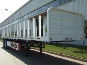 Cimc 40FT Flatbed Trailer with Two or Three Axles Truck Chassis pictures & photos