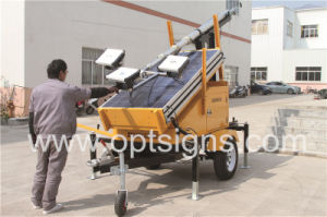 Night Operation Long Lasting Solar Power Light Towers pictures & photos