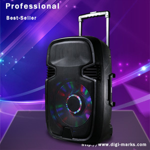 Bluetooth Wireless Trolley Speaker with Revoving Lights Horn pictures & photos