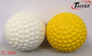 "9"" 12"" PU White and Yellow Dimple Ball"