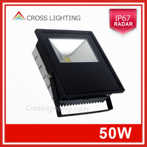 IP67 50W LED Floodlight with Radar Sensor