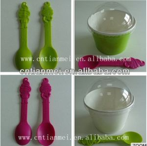 Plastic Custom Spoon & Yogurt Cup pictures & photos