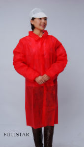 Disposable Non-Woven Lab Coat pictures & photos