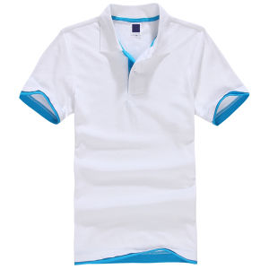 Mens Cotton Embrodiery Logo Short Sleeve Polo Shirt (S-12) pictures & photos