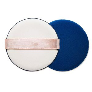 Cotton Cosmetic Air Cushion Powder Puff with White Ribbon pictures & photos