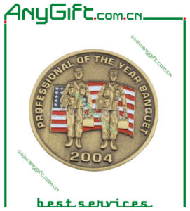 3D Medal with Soft Enamel and Antique Brass Plating pictures & photos