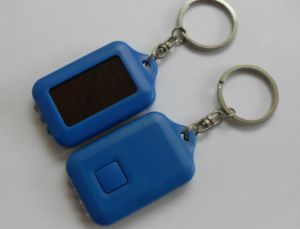 OEM Mini Solar Keychain LED Flashlight Emergency Light Lamp Torch pictures & photos