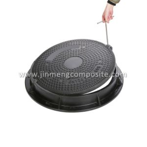 Dn 600mm En124 C250 Composite Manhole Cover with Lifting Keys pictures & photos