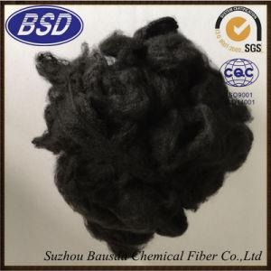 Heat-Resistant Highly Elastic Black Polyester Staple Fiber