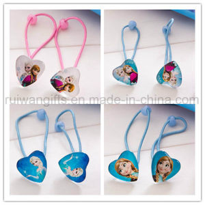 Girls Elastic Hair Bands with Frozen Pendant pictures & photos