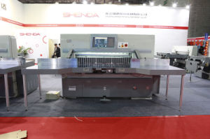 Automatic Double Hydraulic 10.4 Inch Guillotine (SQZ-137CTN KD) pictures & photos
