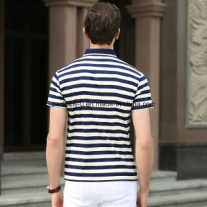 High Quality Striped Slim Men Polo Shirt Sports Wear Golf Clothes pictures & photos