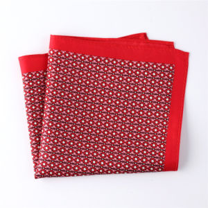 Fashionable Silk Polyester Dots Flower Printed Pocket Square Hanky Handkerchief (SH-043) pictures & photos