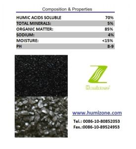 Humizone Organic Fertilizer From Leonardite: Sodium Humate Granular pictures & photos