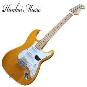 Hanhai Music / St Style Yellow Electric Guitar with Chrome Hardware pictures & photos